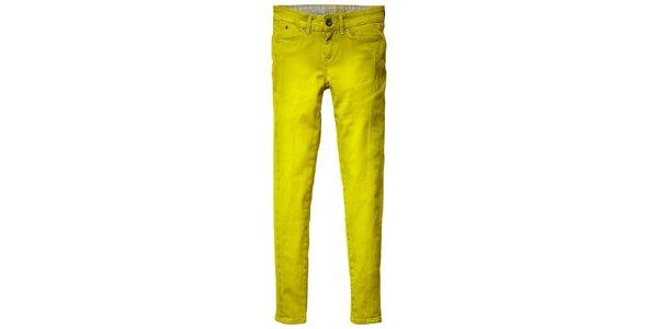 Dámské neonové žluto-zelené skinny Pepe Jeans