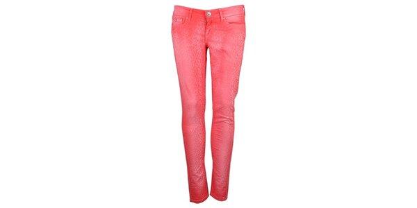 Dámské růžovo-červené skinny Pepe Jeans