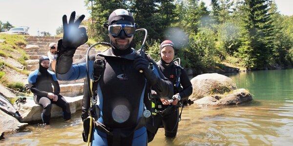 Hurá do vody: 4denní kurz potápění na lomu Srní