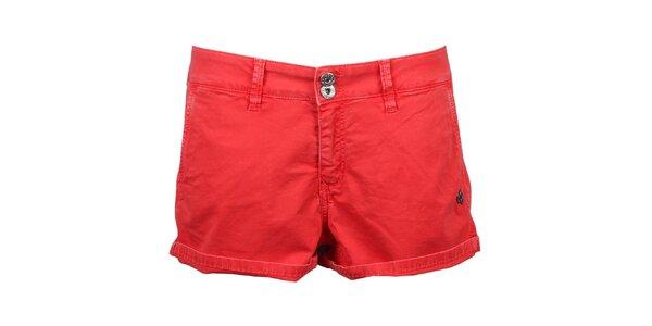 Dámské červené kraťasy Pepe Jeans