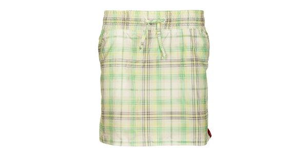 Dámská zelená kostkovaná sukně Sam 73