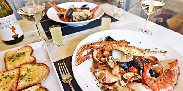 Královská rybí polévka a nápoje pro 2 osoby