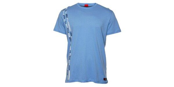 Pánské světle modré triko se svislým potiskem Sam 73