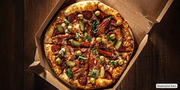 Pohádková pizza dle výběru s rozvozem po Brně