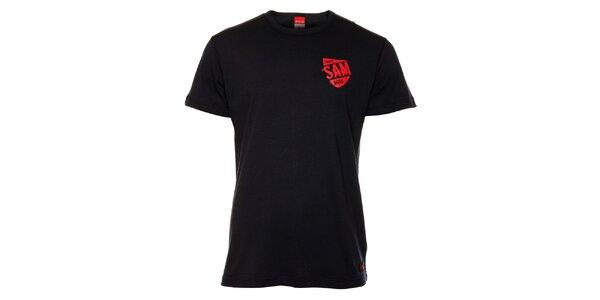 Pánské černé triko s červeným potiskem Sam 73