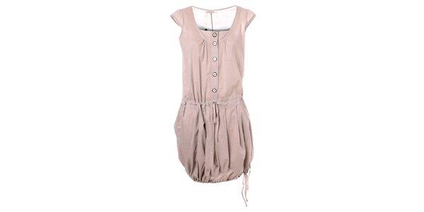Dámské béžové šaty s balónovou sukní Bleifrei