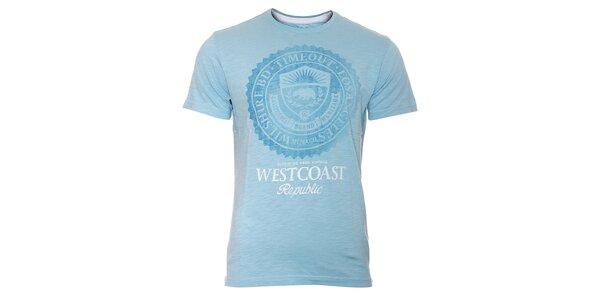 Pánské světle modré tričko Timeout