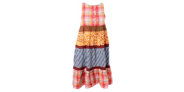 Dámské pestrobarevné vzorované šaty s volánky Bleifrei