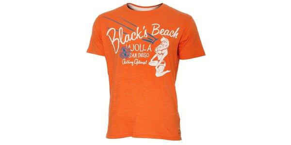 Pánské meruňkově oranžové tričko Timeout