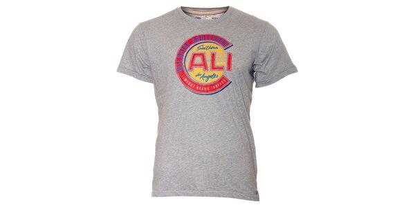 Pánské šedé tričko Timeout s vintage potiskem