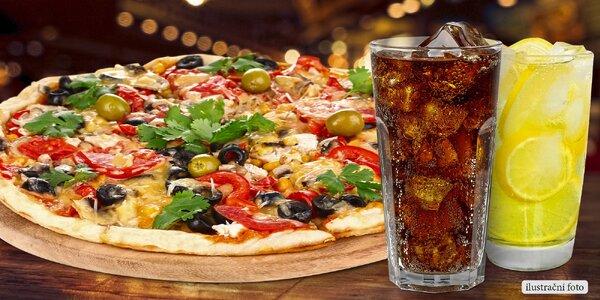 Pizza a 2 osvěžující drinky před návštěvou zoo