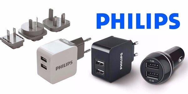 Autonabíječky a cestovní USB adaptéry Philips