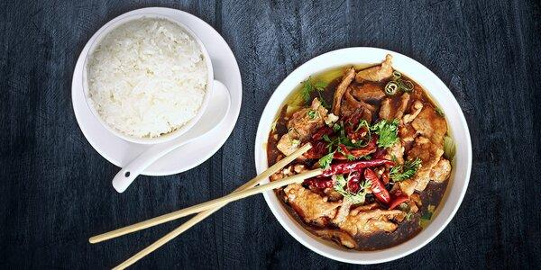 3chodové čínské menu v restauraci GUI LIN