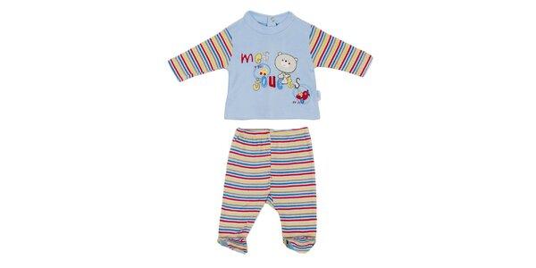 Dětský modro-bílý set kalhot a trika Yatsi