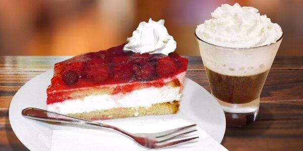Kávička a dezert v klidné cukrárně Bany