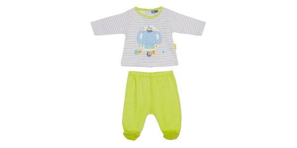 Dětský limetkový set kalhot a trika Yatsi