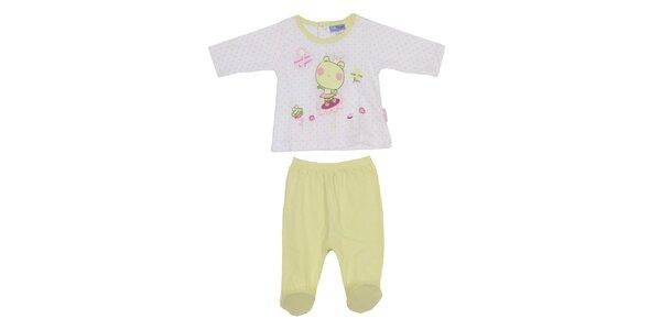 Dětský pistáciový set kalhot a trika Yatsi