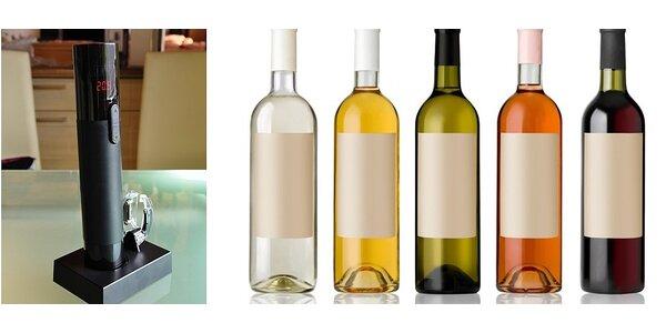 Elektrická vývrtka na víno s teploměrem značky BEZDOTEKU