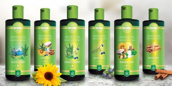 Regenerační a relaxační BIO masážní a koupelové oleje Topvet