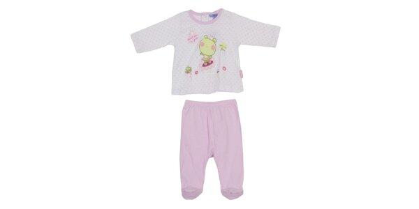 Dětský růžový set kalhot a trika Yatsi