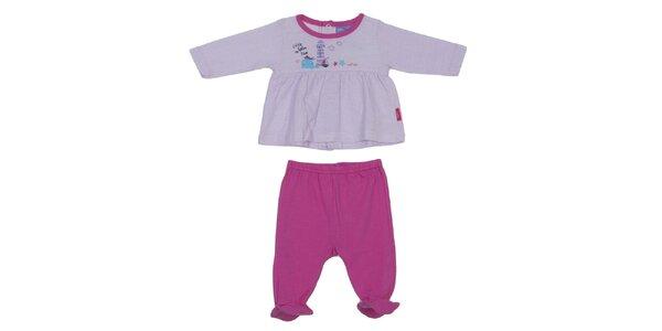 Dětský fialovo-růžový set kalhot a trika Yatsi