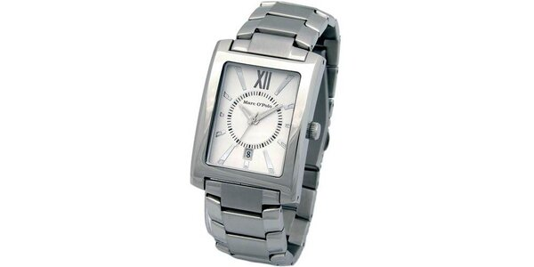 Pánské stříbrné ocelové hodinky Marc O´Polo