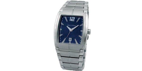 Pánské modro-stříbrné analogové hodinky Marc O´Polo