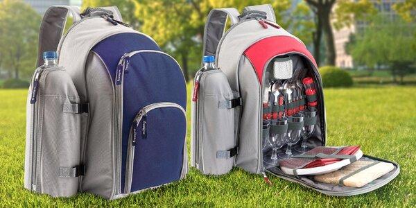 Piknikový batoh s kompletním vybavením pro 4 osoby.