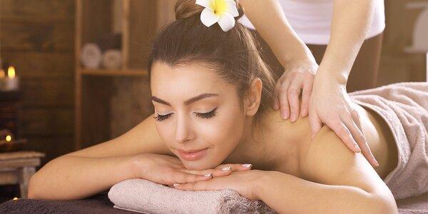 75minutová masáž se zábalem dle vašeho výběru