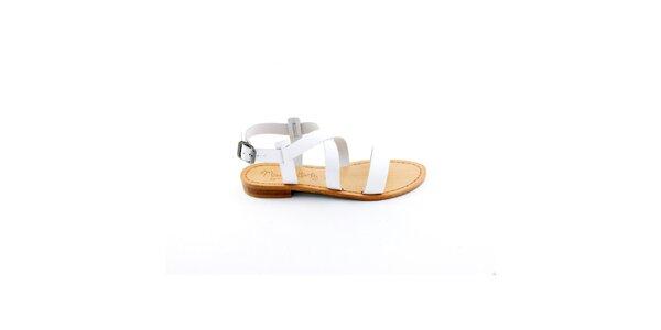 Dámské bílé páskové sandály Miss Butterfly