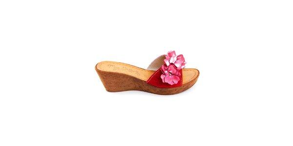 Dámské fuchsiové pantofle Miss Butterfly