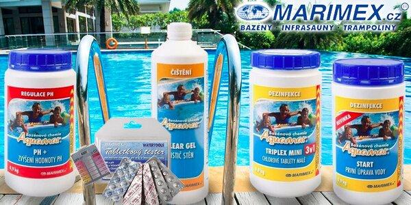 Výhodné balíčky bazénové chemie Marimex AQuaMar
