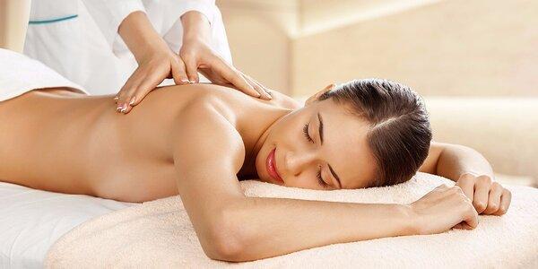 Relaxační uvolňující 30 nebo 60 minutová masáž