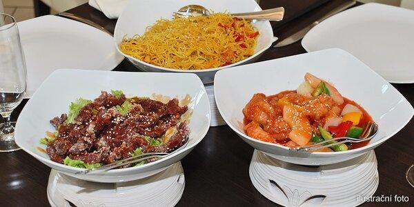 Exotické hongkongské menu o čtyřech chodech