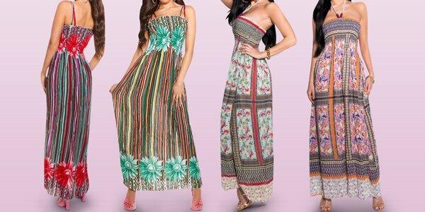 Nádherné dámské šaty až ke kotníkům