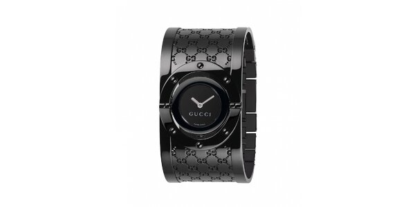 Luxusní dámské černé hodinky Gucci Twirl