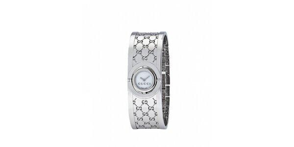 Luxusní dámské stříbrné hodinky Gucci Twirl úzké