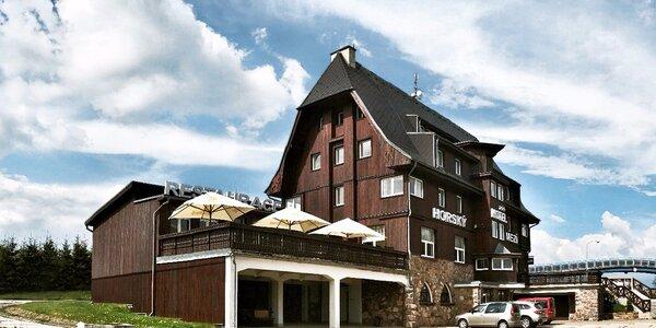Stylový horský hotel: 3chodová večeře i sauna