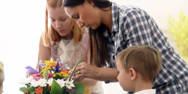 Květinová dílna pro maminky s dětmi