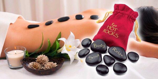 Horké kameny na masáž a relaxaci