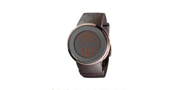 Luxusní pánské hnědé hodinky Gucci I-Gucci