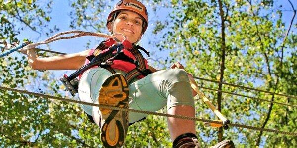 Adrenalin ve větvích: Vysoká lanová dráha