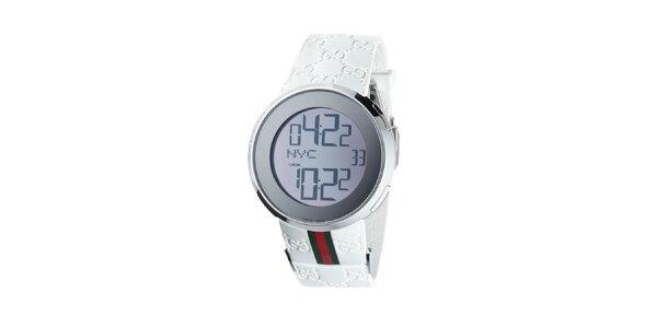 Luxusní pánské bílé hodinky Gucci I-Gucci