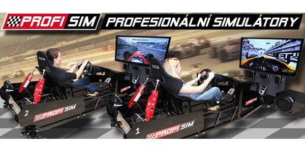 199 Kč za 30 minut adrenalinové jízdy na závodním simulátoru!