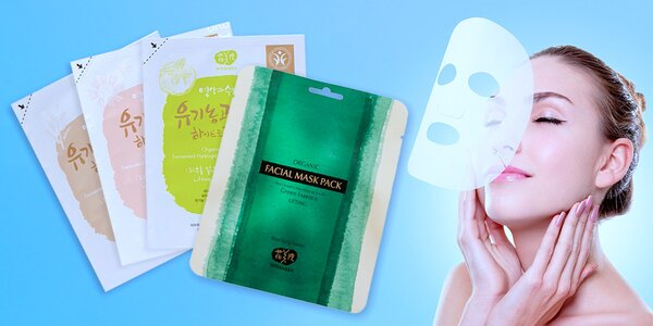 Organické pleťové masky Whamisa