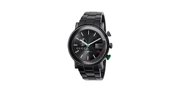 Luxusní pánské černé hodinky Gucci Chrono