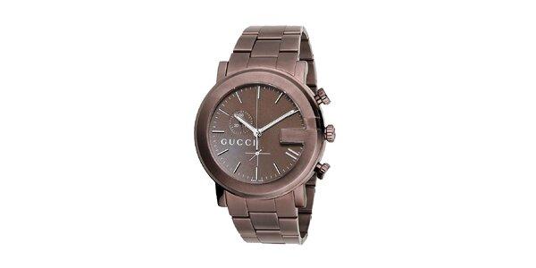 Luxusní pánské hodinky Gucci Chrono v barvě mědi