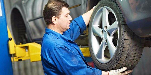 Přezutí pneumatik včetně vyvážení a závaží