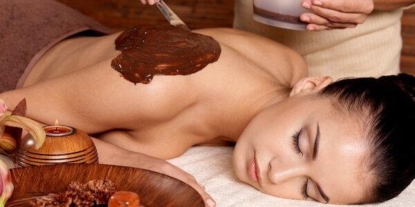 90minutová čokoládová masáž s peelingem a zábalem