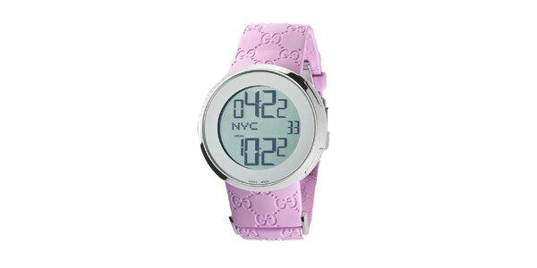 Luxusní dámské růžové hodinky Gucci I-Gucci